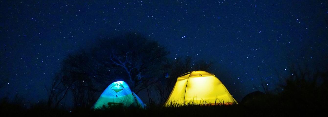 Starry sky at Great American Campout