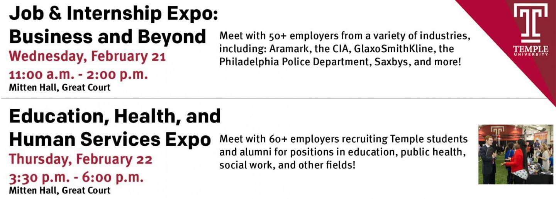 Job and Internship Expo on February 21