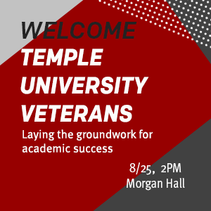 Temple University Veterans Welcome ad