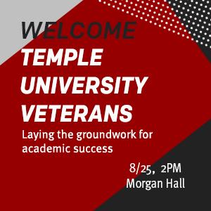 Temple University Veterans Welcome ad