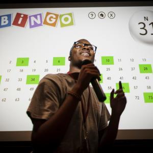 Student at bingo