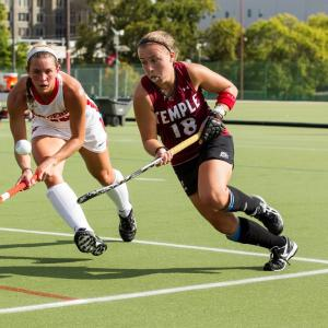 Temple field hockey player