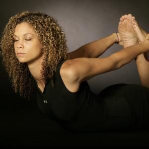 female stretching