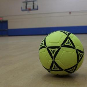 soccer ball in gym