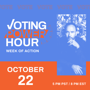 Voting Power Hour with picture of Dave Matthews