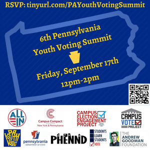 Outline of the state of Pennsylvania with the text detailing the conference. Logos of the hosting organizations are along the bottom.