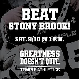 Super Hero Day Temple Football Vs Stony Brook Calendar Of Events