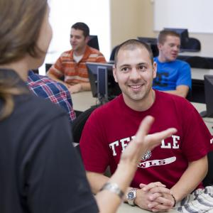 Prospective and admitted students learn about the Ambler Campus.