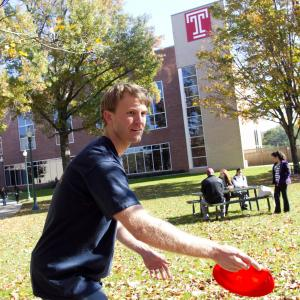 Frisbee tournament at the Temple University Ambler Campus