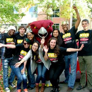Students have fun at an Ambler Student Government Association-sponsored event.