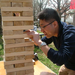 The Ambler Campus spring event includes giant Jenga!