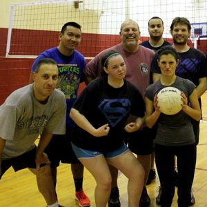 Intramural volleyball at Temple University Ambler.