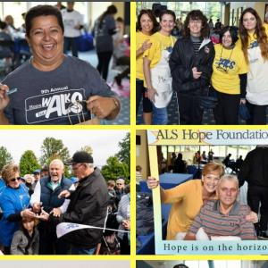 Families and individuals take part in the annual Hope Walks for ALS.