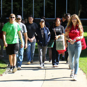 Students Learn about the Ambler Campus at Transfer Thursday.