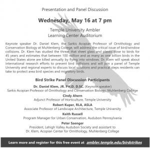 Bird Strikes: Global Research, Local Solutions, May 16