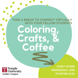 Student Life Coloring, Crafts and Coffee