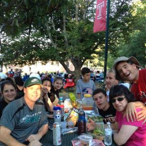 A crowd enjoys a free summer concert at Temple University Ambler.