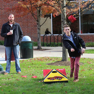 Corn Hole contest at Temple University Ambler.