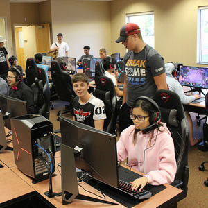 The new Esports Center at Temple University Ambler.
