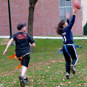 Intramural flag football at Temple University Ambler.