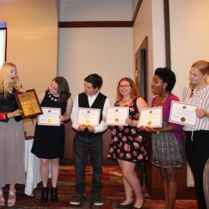 Students are honored at the Ambler Campus Student Academic and Leadership Awards Ceremony.
