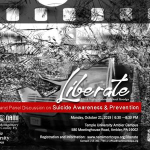 Liberate — Film Screening and Panel Discussion on Suicide Awareness & Prevention