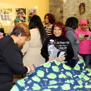 "Ambler Campus Student Life, in partnership with the Alpha Kappa Alpha Sorority Phi Beta Omega Chapter, invites all students, faculty, staff and alumni to help them make ""no-sew"" blankets and ""no sew"" bags during the Martin Luther King, Jr. National Day of Service."