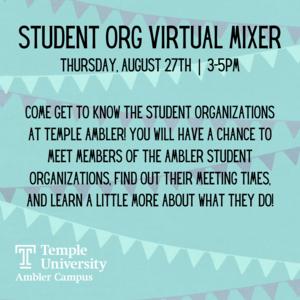 Student Organization Mixer