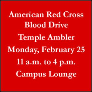 Spring Blood Drive at Temple University Ambler