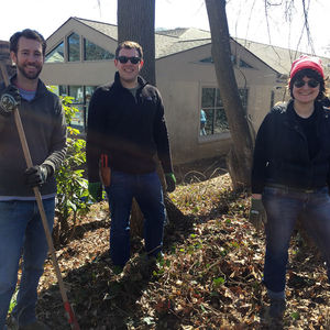 Society for Ecological Restoration works on a project.