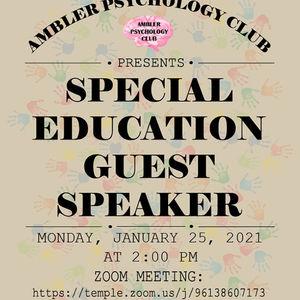 Psychology Club Special Education Speaker