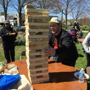 The Ambler Campus Program Board spring event included giant Jenga!