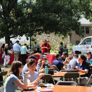 Students enjoy a fun day at the Ambler Campus Barbeque.