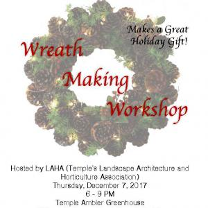 Landscape Architecture and Horticulture Association Wreath Making Workshop