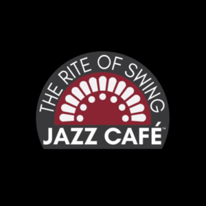 Stained glass graphic with text Rite of Swing Jazz Cafe