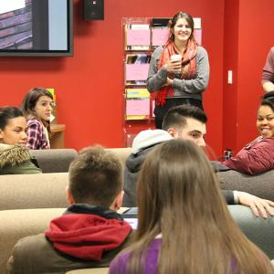students attend a foundations of study abroad information session