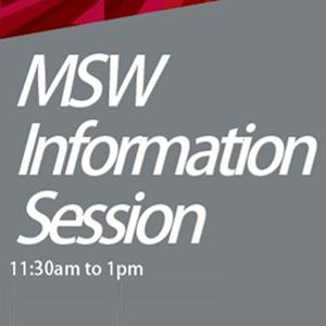 MSW Info Session, April 4, 11:30am
