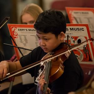 Young male violinist