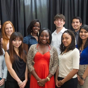 Students posing at a Student Leadership award ceremony