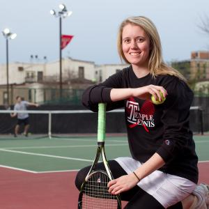 Female Temple tennis player