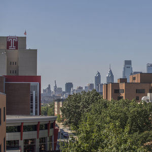View of the Philadelphia skyline from Main Campus