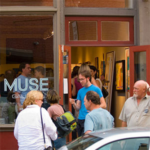 People visiting MUSE Gallery in Old City Philadelphia