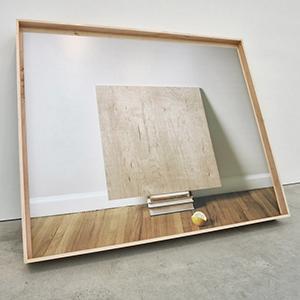 Leslie Hewitt, Untitled (Perception), Still Life Series, digital c-print in custom maple frame, 2013