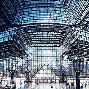 Interior of Javits Center in NYC