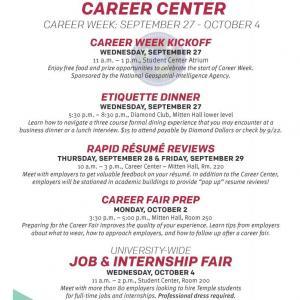 preparing for a career fair