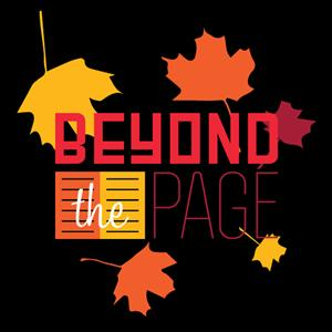 beyond the page logo with fall leaves