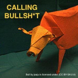 bull with the words calling bullsh*t