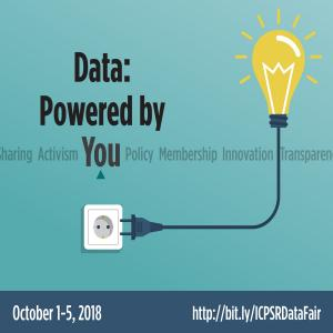 Data powered by you October 1-5, 2018