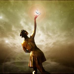 woman reaching for the stars