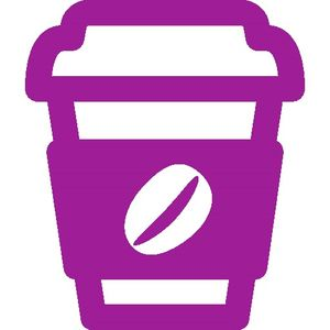purple coffee graphic
